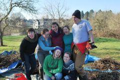 Jesuit Volunteer AmeriCoprs members joined in the fun!