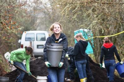 Mulching in December!